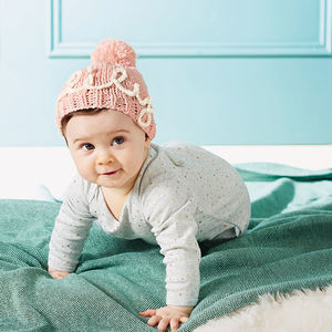 Personalised Name Baby's Knitted Hat - cosy clothing