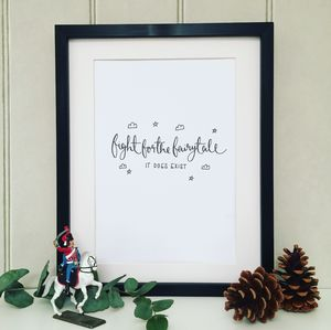 'Fight For The Fairytale' Print - posters & prints