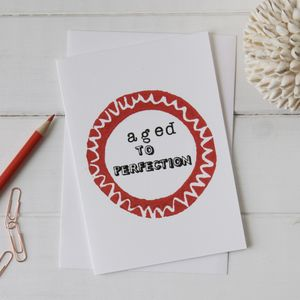 Funny Happy Birthday 'Perfection' Card