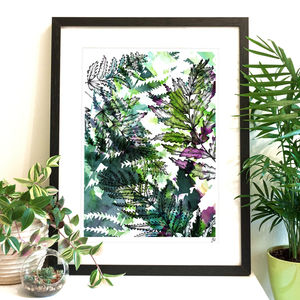 Botanical Fern Fine Art Giclée Print - modern & abstract