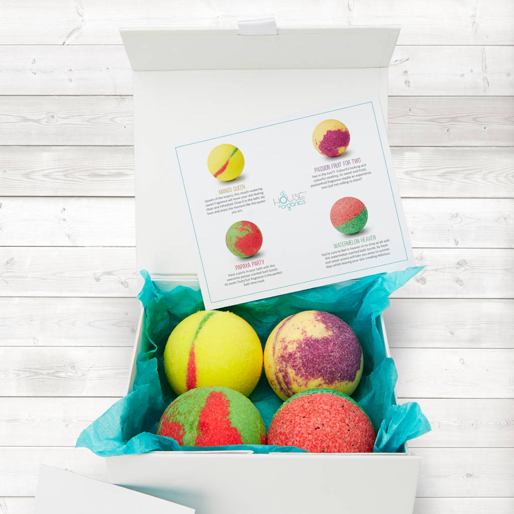 exotic collection organic bath bomb gift set by house of organics ...