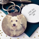 Pet Portrait Personalised Photo Message Keyring
