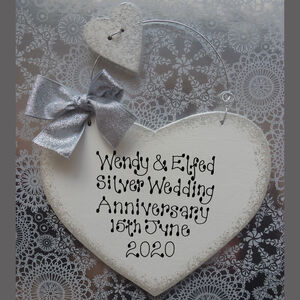 Personalised Silver Wedding Anniversary Sign