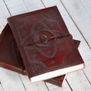 Handcrafted Indra Embossed Stone Hefty Leather Journal