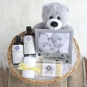 Pamper New Mum & Baby Gift Basket - baby care