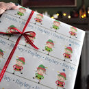 Christmas Gift Wrap: Personalised Little Elf