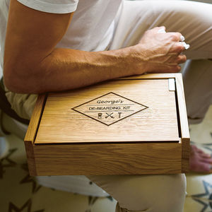 Personalised Grooming Box With Customised Storage - gifts for him
