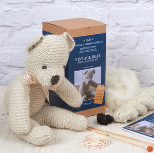 Limited Edition 'Ernest' The Vintage Bear Knitting Kit