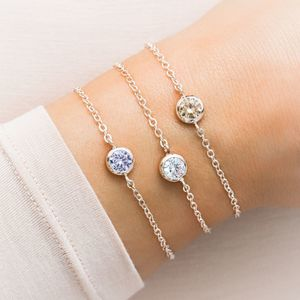 Personalised Skinny Birthstone Bracelet - july birthstone