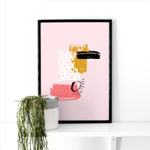 Abstract Painted Art Print