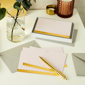 Personalised Scallop Luxury Notecards Set