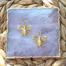 Handmade Gold Bee Earrings