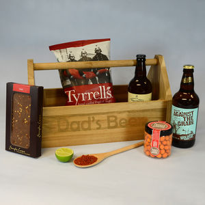 Beer And Chilli Trug Personalised - wines, beers & spirits