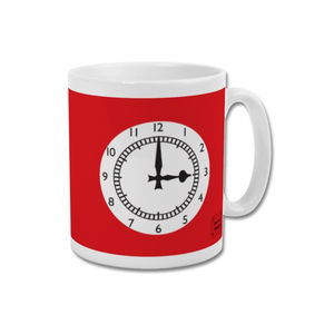 'Clock End' Minimalist Arsenal Highbury Mug - dining room