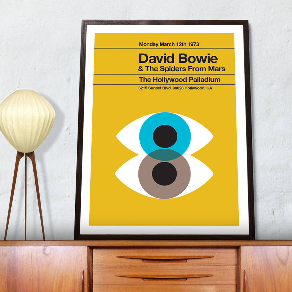 david bowie remixed poster by the stereo typist | notonthehighstreet.com