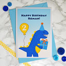 'Dinosaur' Boys Personalised Birthday Card