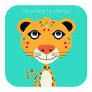 Leopard Sorry Card 'I'm Willing To Change'