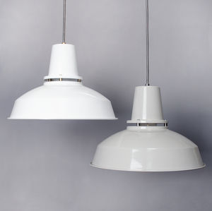 Mid Cutout Industrial Pendant - lighting