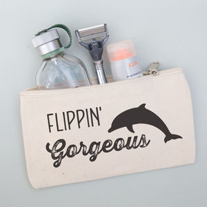 Personalised Dolphin Pouch For Him