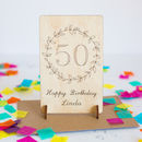 Personalised 50th Birthday Wooden Card