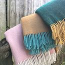 Wool Throw Assorted Colours