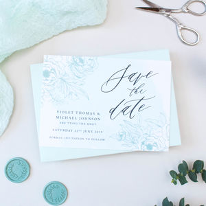 Mint Green Calligraphy Wedding Save The Date - new in wedding styling