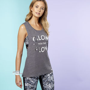 'Glow With The Flow' Yoga Top - lounge & activewear