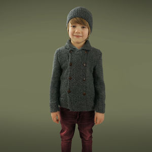 Boys Handmade Double Moss Coat - clothing