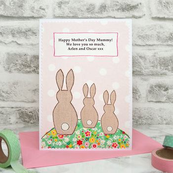 Personalised large A5 sized Mother's Day card from Jenny Arnott Cards and Gifts