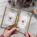 Personalised Couple's Playing Card Letterbox Gift Set