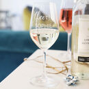 Personalised 'Cheers!' Wine Glass