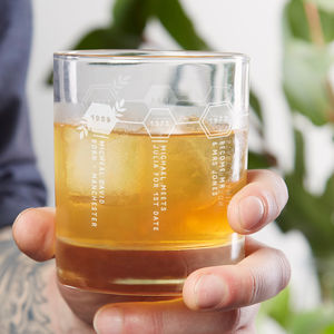 Timeline Personalised Whiskey Glass - gifts for fathers