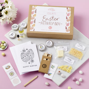 Personalised Easter Activity Box - colouring books
