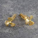 Nautical Propeller Gold Cufflinks