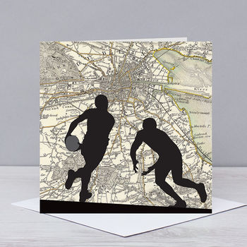 Rugby Card With Dublin Map
