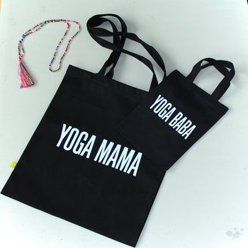 Yoga Mama Yoga Baba Organic Cotton Bag Gift Set