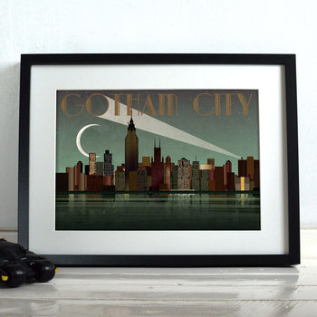 Gotham City Batman Superhero Poster Art Print