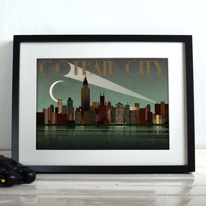 Gotham City Batman Superhero Poster Art Print - children's room