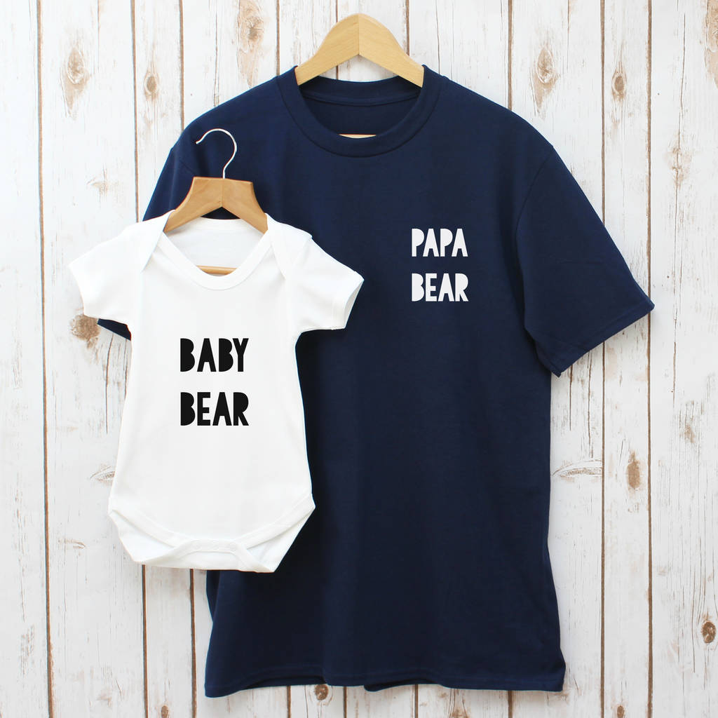 542856d0 father's day papa bear daddy and baby t shirt set by betty bramble ...