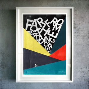 'Far From The Madding Crowd' Cycling Giclée Print - activities & sports