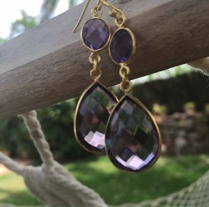 Amethyst Earrings Drop Earrings