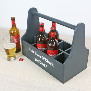Personalised Beer Or Wine Caddy - storage & organisers