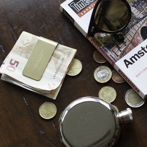 'Think' Brass Money Clip