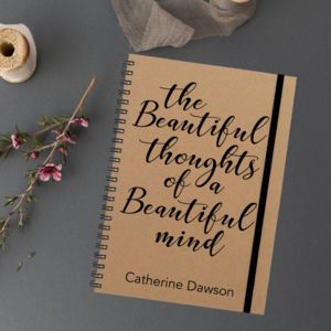 'Beautiful Mind' Personalised Notebook - notebooks & journals