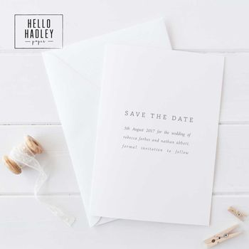 Save The Date Card Forbes Collection