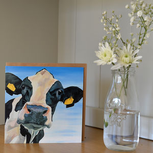 Molly Holstein Cow Greetings Card