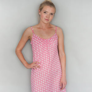 Dasiy Slip In Pink Heart Solero Print - wedding fashion