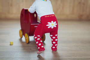 Red Daisy Leggings - clothing