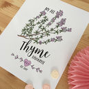 'My All Thyme Favourite' Personalised Print