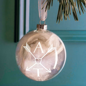 Couple Monogram Bauble - top 100 decorations